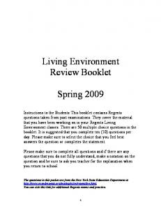 Living Environment - New York City Department of Education