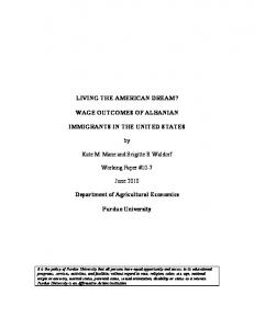 LIVING THE AMERICAN DREAM? WAGE ... - AgEcon Search