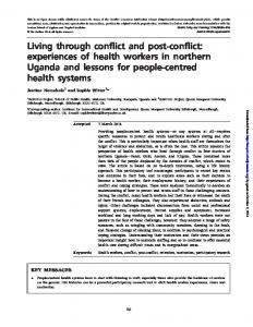 Living through conflict and post-conflict: experiences