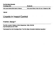 Lizards in Insect Control