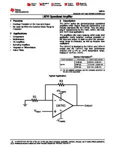 LM741 Operational Amplifier (Rev. C)