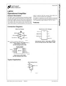 LM741 Operational Amplifier