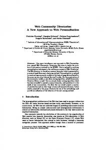 LNAI 3209 - Web Community Directories: A New Approach to Web ...