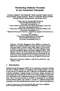 LNBIP 116 - Monitoring Business Processes in the ... - Springer Link