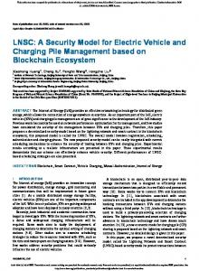 LNSC: A Security Model for Electric Vehicle and Charging Pile