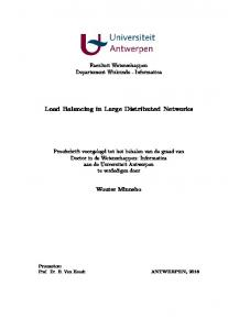Load Balancing in Large Distributed Networks