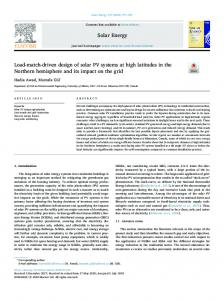 Load-match-driven design of solar PV systems at high