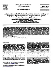 Load prediction method for heat and electricity