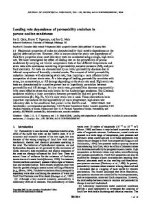 Loading rate dependence of permeability ... - Semantic Scholar