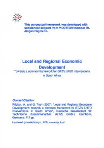 Local and Regional Economic Development - PICOTEAM