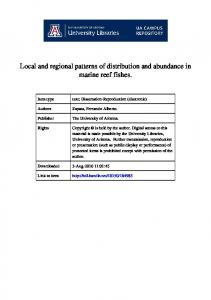 Local and regional patterns of distribution and