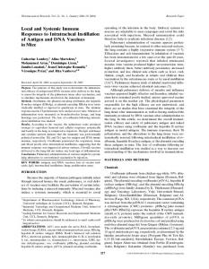 Local and Systemic Immune Responses to Intratracheal ... - CiteSeerX