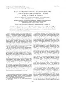 Local and Systemic Immune Responses to Rectal Administration of ...