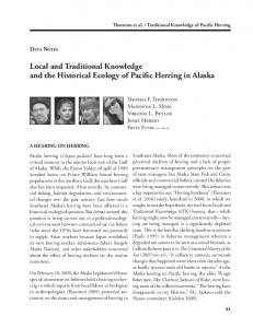 Local and Traditional Knowledge and the Historical Ecology of ... - PDX
