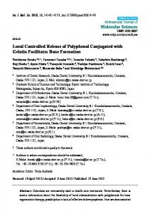 Local Controlled Release of Polyphenol ... - Semantic Scholar