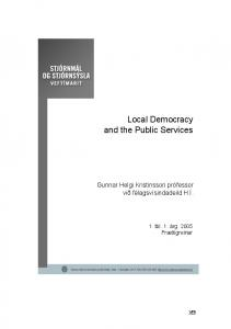Local Democracy and the Public Services - Skemman
