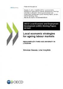 Local economic strategies for ageing labour markets - OECD iLibrary