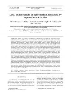 Local enhancement of epibenthic macrofauna by aquaculture activities