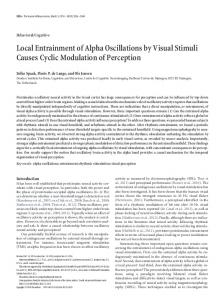 Local Entrainment of Alpha Oscillations by Visual Stimuli Causes ...