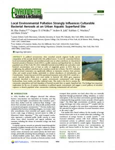 Local Environmental Pollution Strongly Influences ... - ACS Publications