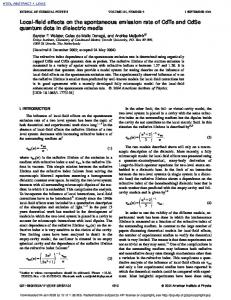 Local-field effects on the spontaneous emission rate of CdTe and ...