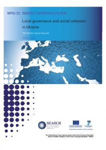 Local governance and social cohesion in Ukraine