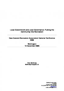 Local Government and Local Governance - McKinlay Douglas