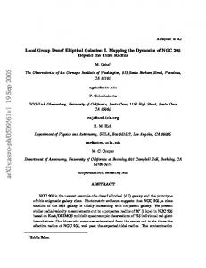 Local Group Dwarf Elliptical Galaxies: I. Mapping the Dynamics of ...