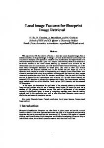 Local image Features for Shoeprint Image Retrieval - Department of ...