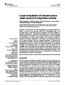 Local modulation of steroid action: rapid control of ... - Frontiers