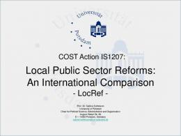 Local Public Sector Reforms