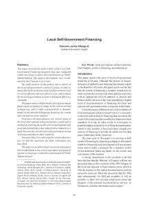 Local Self-Government Financing