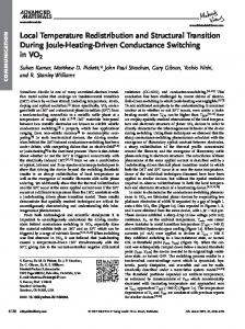 Local Temperature Redistribution and Structural ... - Wiley Online Library