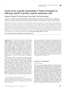 Local versus systemic interleukin-2: Tumor formation by wild ... - Nature
