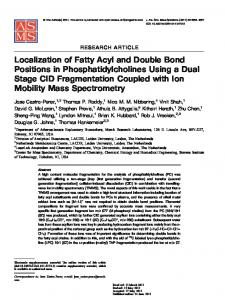 Localization of Fatty Acyl and Double Bond Positions in ... - CiteSeerX