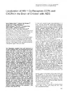 Localization of HIV-1 Co-Receptors CCR5 and - NCBI - NIH
