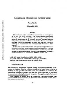 Localization of reinforced random walks