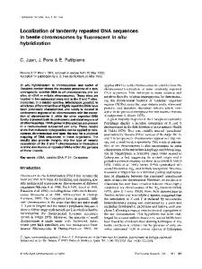 Localization of tandemly repeated DNA sequences in ... - Springer Link