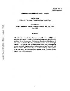 Localized Branes and Black Holes