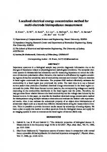 Localized electrical energy concentration method for ...