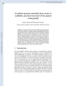 Localized genome assembly from reads to scaffolds: practical ...