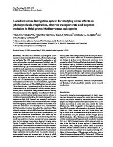 Localized ozone fumigation system for studying ozone effects on ...