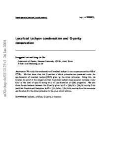 Localized tachyon condensation and G-parity conservation