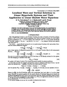 Localized Wave and Vortical Solutions to Linear Hyperbolic Systems ...