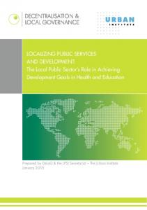 Localizing Public Services and Development: The Local ... - DeLoG