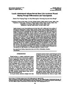 Locally Administered Adipose-Derived Stem Cells ... - SAGE Journals