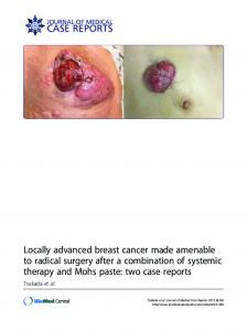 Locally advanced breast cancer made amenable to radical surgery ...