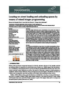 Locarng on-street loading and unloading spaces by