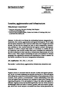 Location, agglomeration and infrastructure - Wiley Online Library