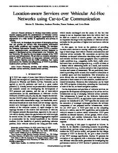 Location-aware Services over Vehicular Ad-Hoc Networks using Car ...